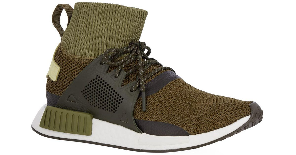 huge discount 631bc 3ebb2 Adidas Originals Green Nmd Xr1 Winter Trainers for men