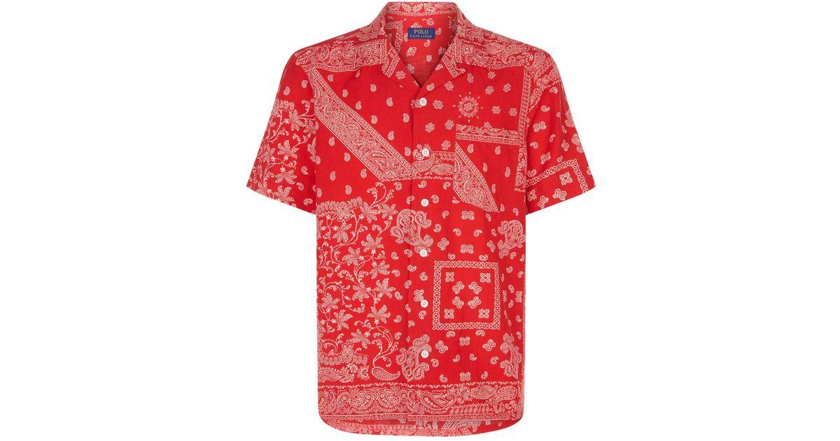 07241ee7b Polo Ralph Lauren Paisley Bandana Shirt in Red for Men - Lyst