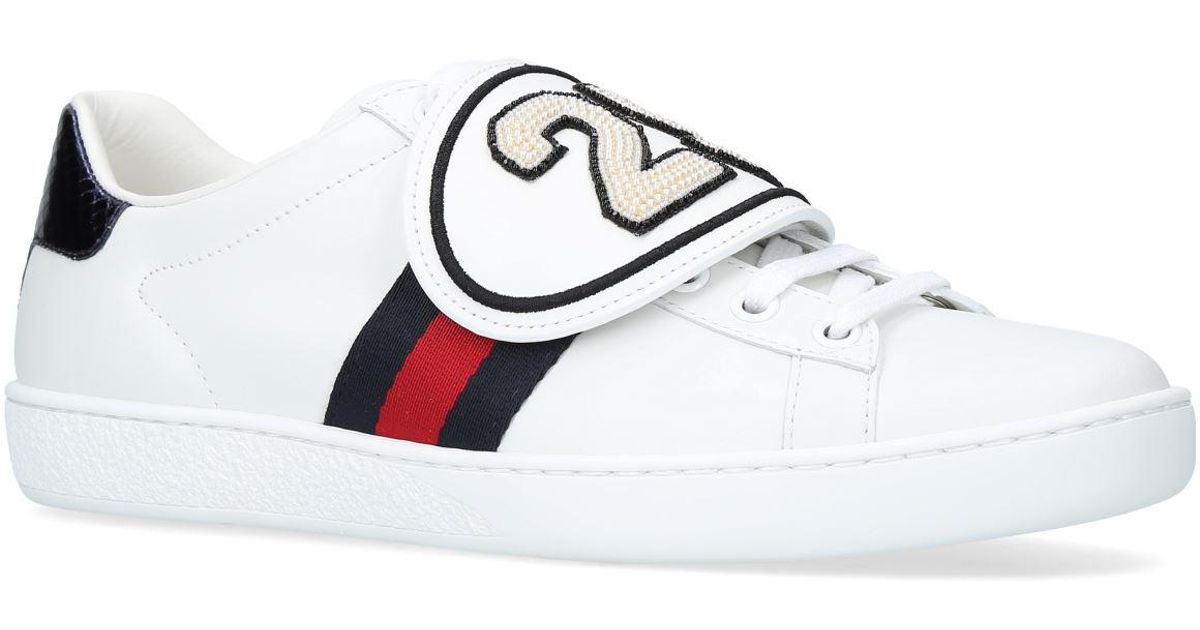 Gucci Leather New Ace Sneakers With