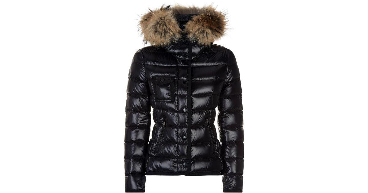 2a2959f72 Lyst - Moncler Armoise Fur Trim Jacket in Black