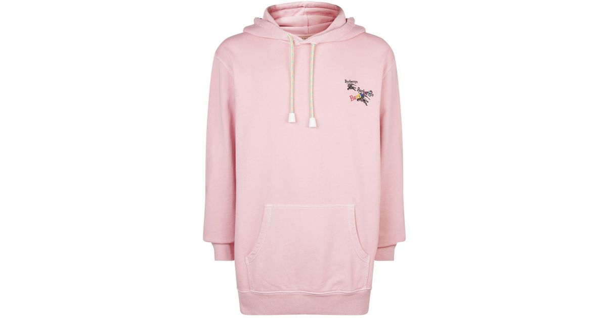 289031cb1bfc2 Burberry Pink Rainbow Archive Logo Hoodie for men