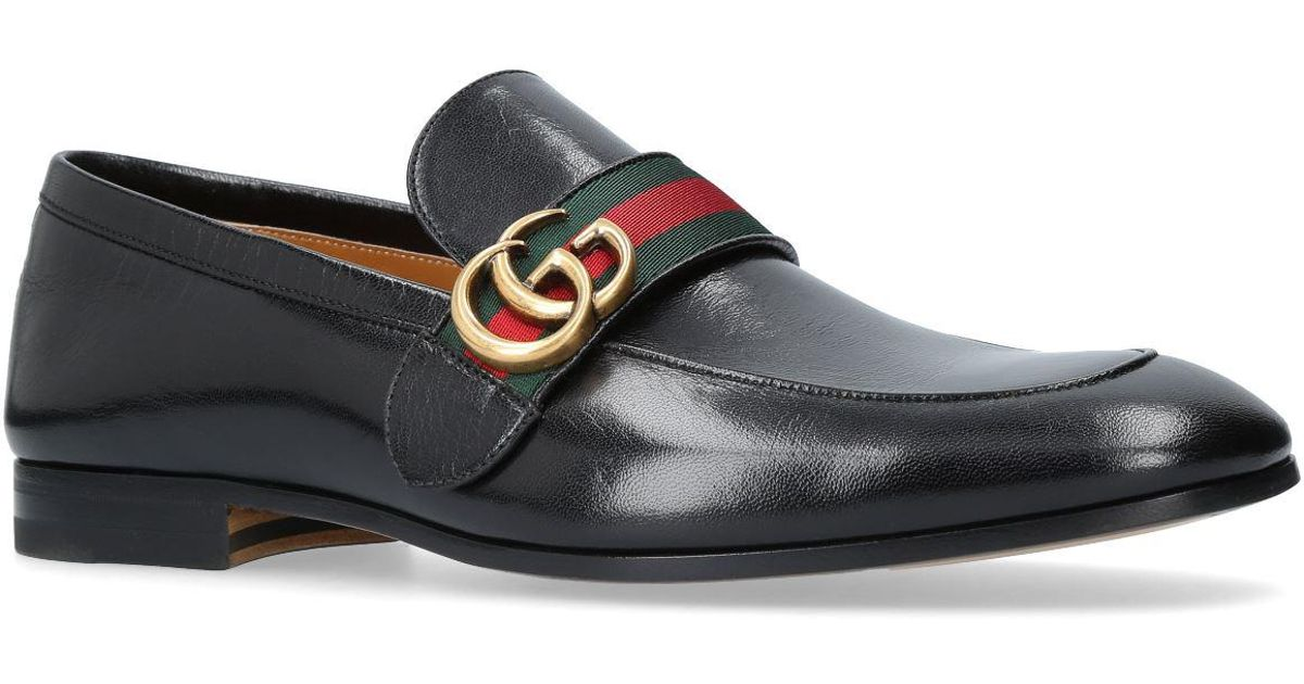 d686c3837ce Lyst - Gucci Donnie Webbed Loafers in Black for Men - Save 13%
