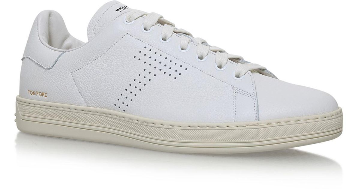 Tom Ford Warwick Leather Sneakers in
