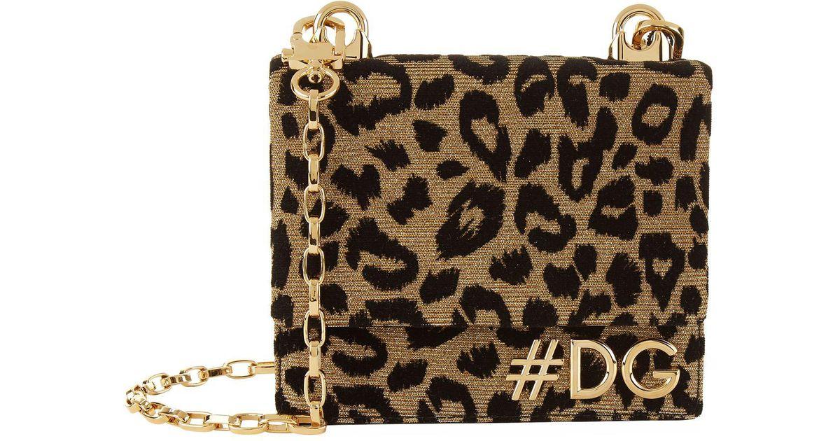 ea5792a0a1 Lyst - Dolce   Gabbana Dg Girls Leopard Cross Body Bag