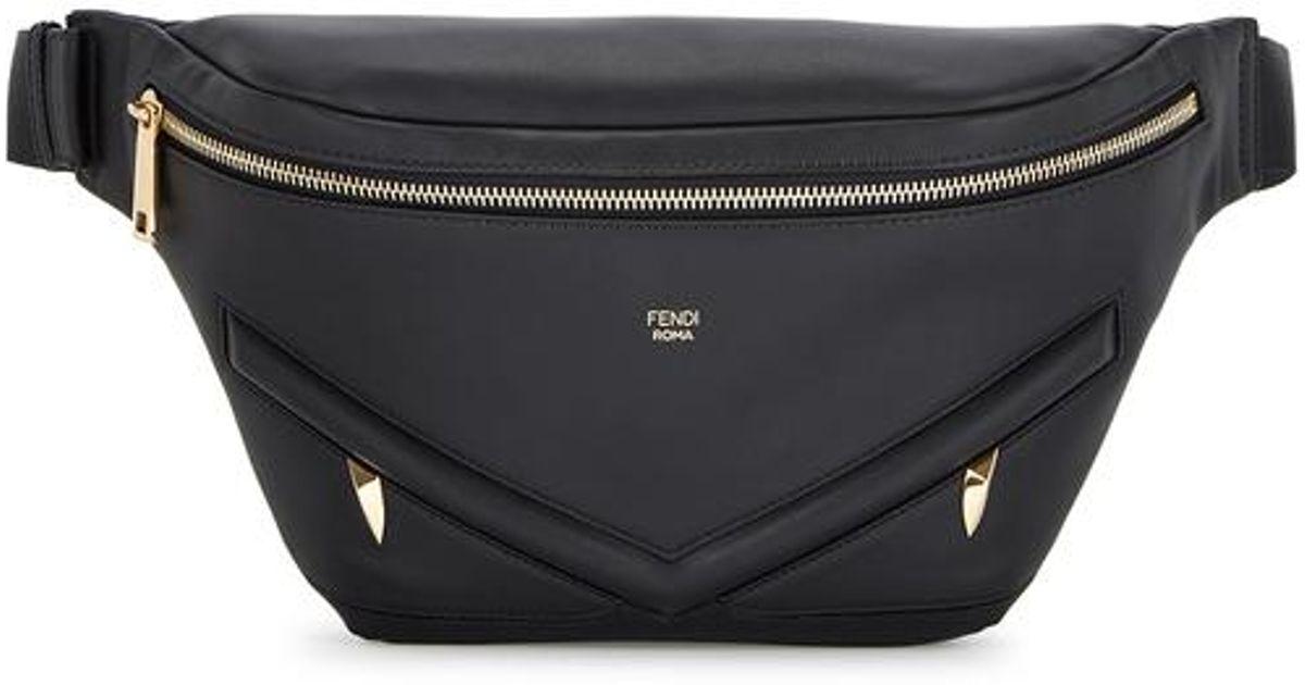 fe21dc7158 Fendi Monster Black Leather Belt Bag for men