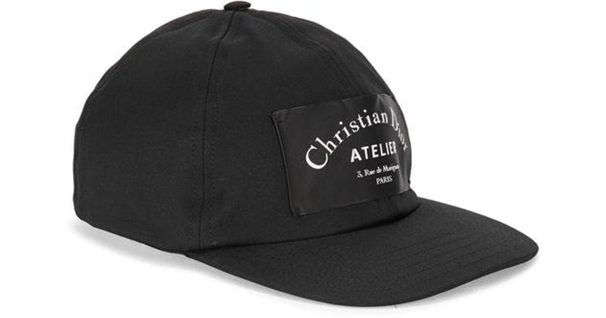 Dior Homme Logo Cap in Black for Men - Lyst 04626d77e44