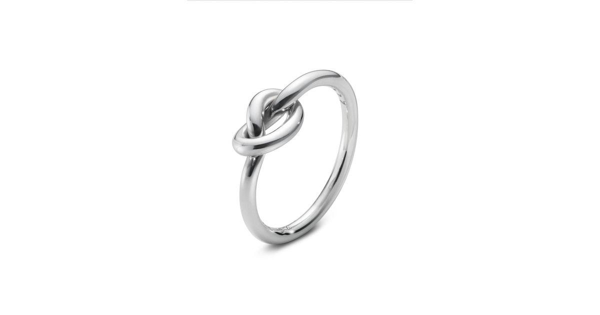 Georg Jensen Love Knot Ring In Silver Metallic Lyst