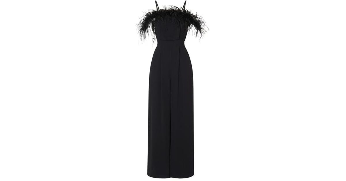969dd85d068d Kitri Bianca Feather Jumpsuit in Black - Lyst