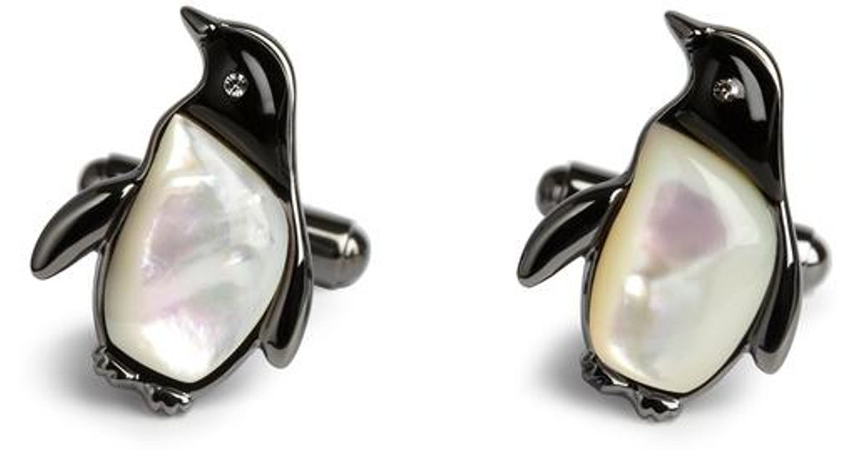 d1d07e0e1 Simon Carter Mother Of Pearl Penguin Cufflinks for Men - Lyst