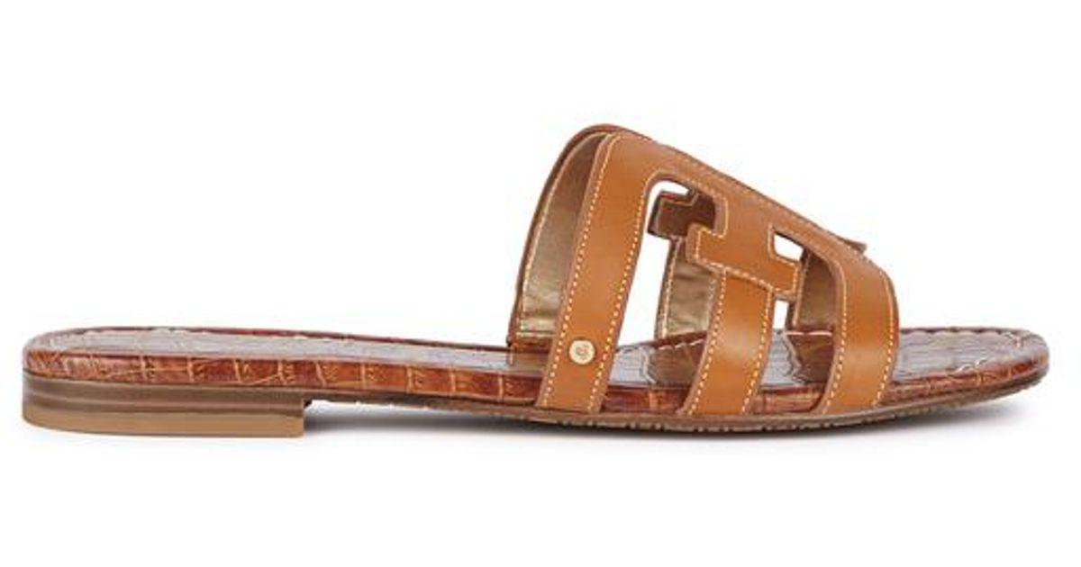 405f6dcf1 Lyst - Sam Edelman Bay Brown Leather Sliders in Brown