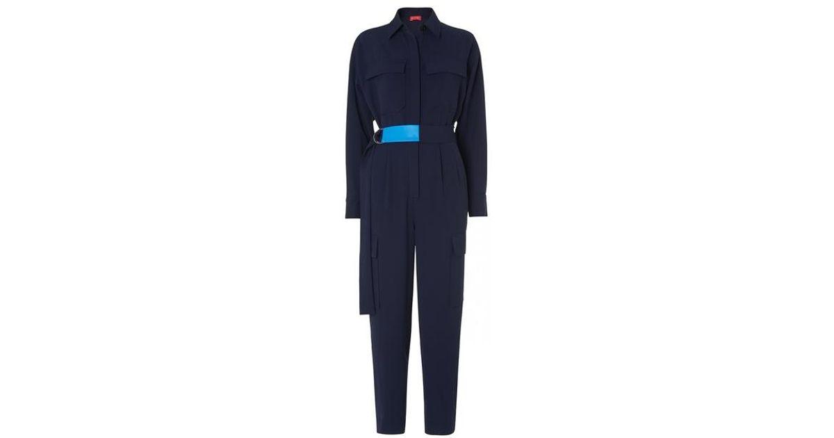 07ff28e2090 Kitri Jule Tailored Jumpsuit in Blue - Lyst