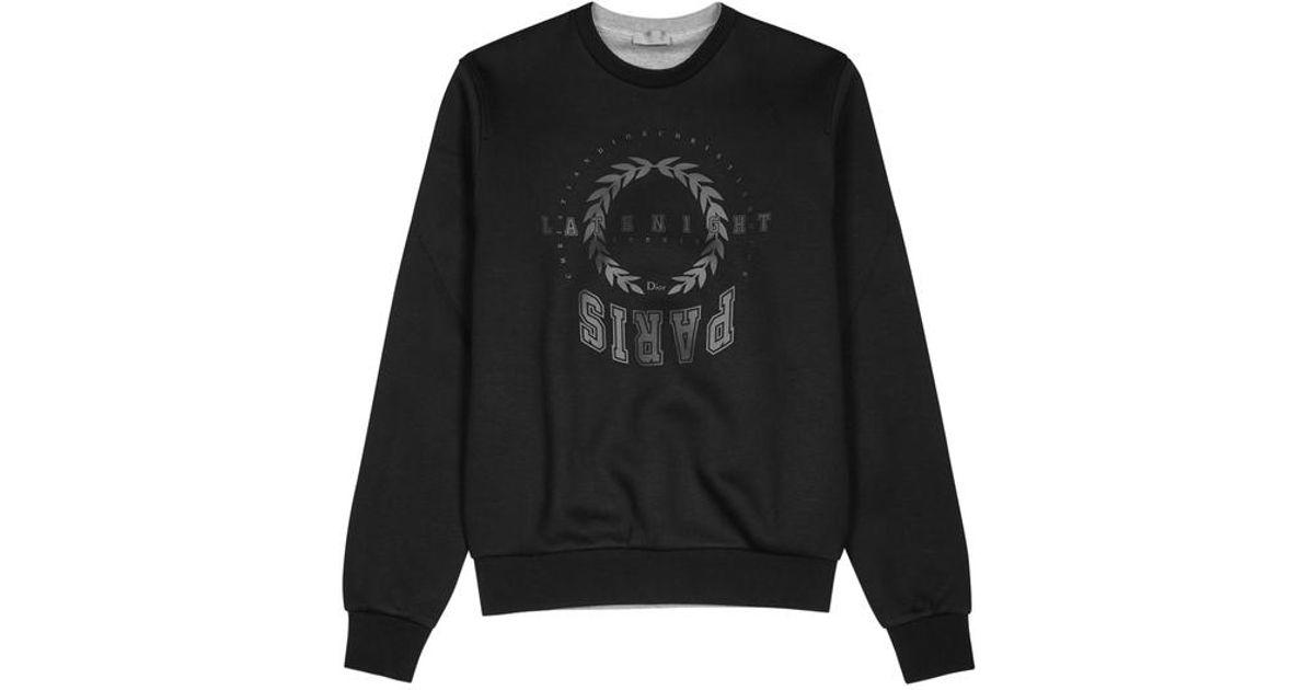 ee3478d07ba Dior Homme Late Night Summer Paris Cotton Sweatshirt in Black for Men - Lyst