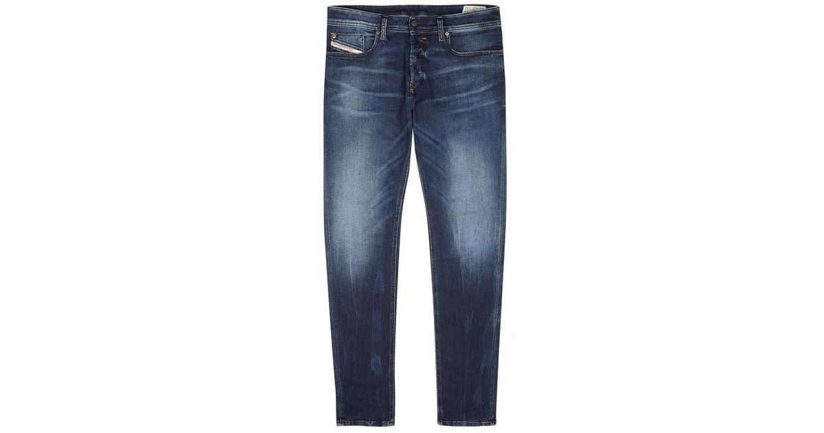 f11dd44ca57 DIESEL Sleenker 0845s Blue Slim-leg Jeans in Blue for Men - Lyst
