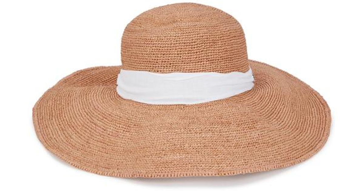 6299a1c5a Helen Kaminski Natural Kahlo Sand Raffia Wide-brim Hat