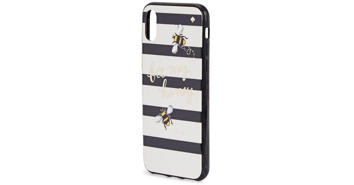 best sneakers 19ccc 92fb7 Kate Spade Black Bee My Honey Iphone X Case