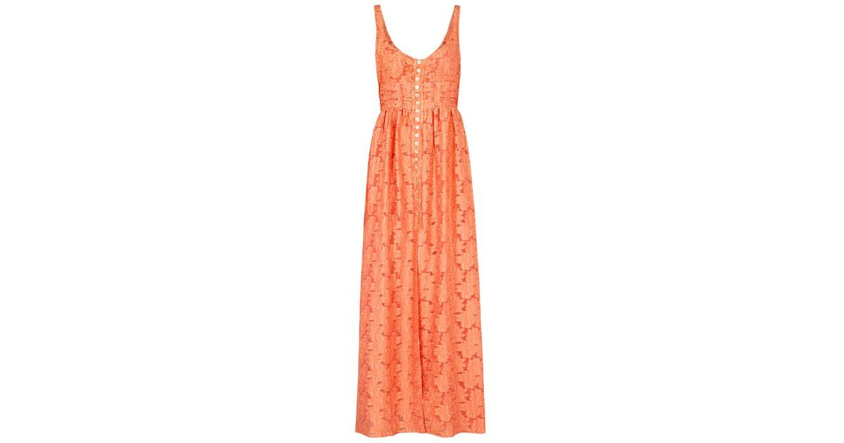 263126b520261 Free People Fresh As A Daisy Jacquard Maxi Dress in Orange - Lyst