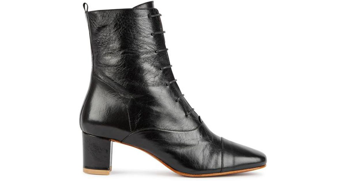 e492cec330d5c BY FAR Lada Black Leather Ankle Boots in Black - Lyst