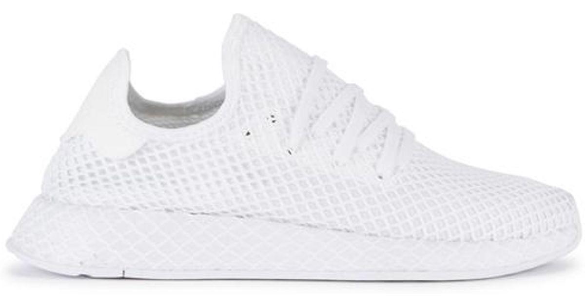white adidas mesh trainers Shop
