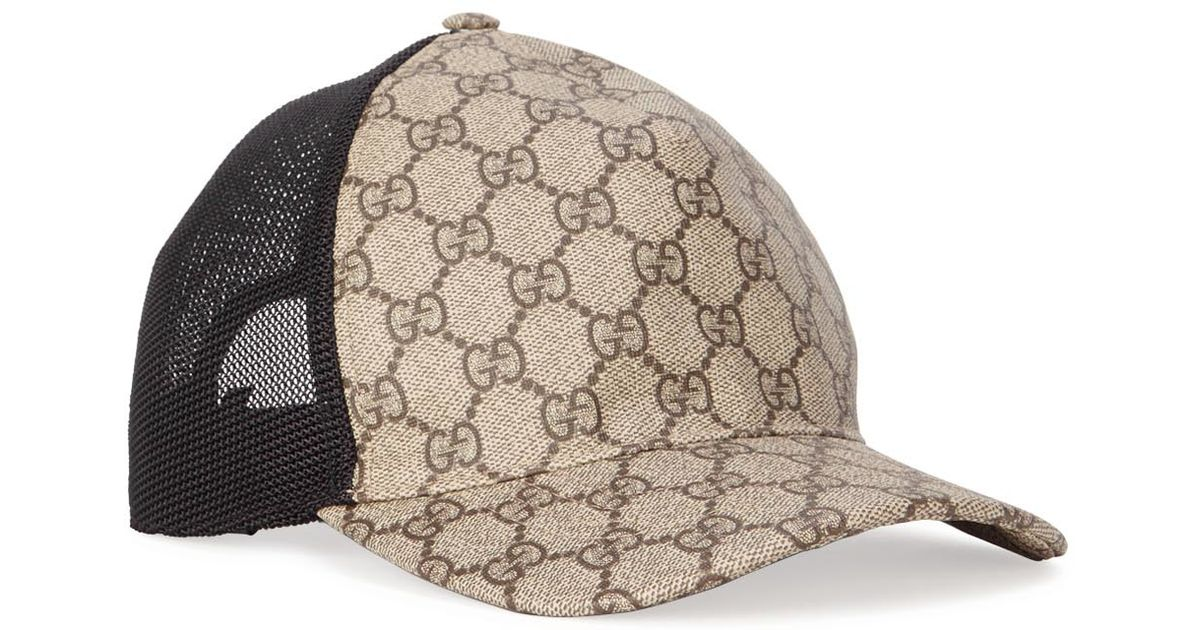 5b925765c6a Gucci Gg Monogrammed Coated Canvas Cap in Natural for Men - Lyst