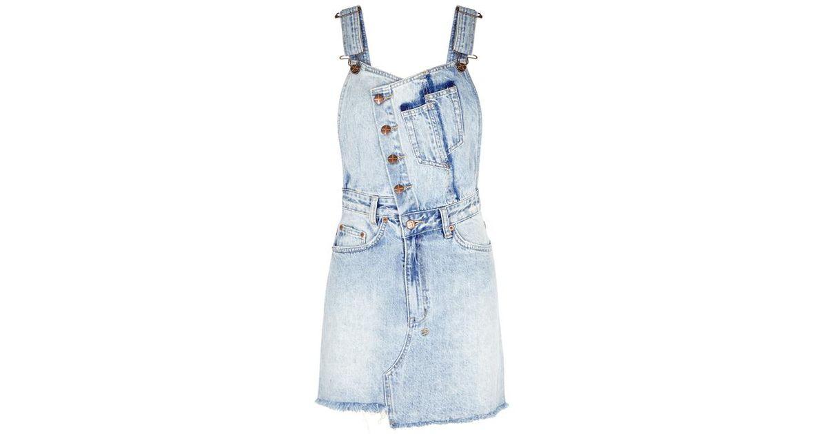 d485a2ff049 Ksubi Light Blue Denim Pinafore Dress in Blue - Lyst