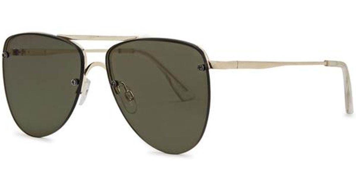 9c0f81f178 Lyst - Le Specs The Prince Aviator-style Sunglasses in Metallic