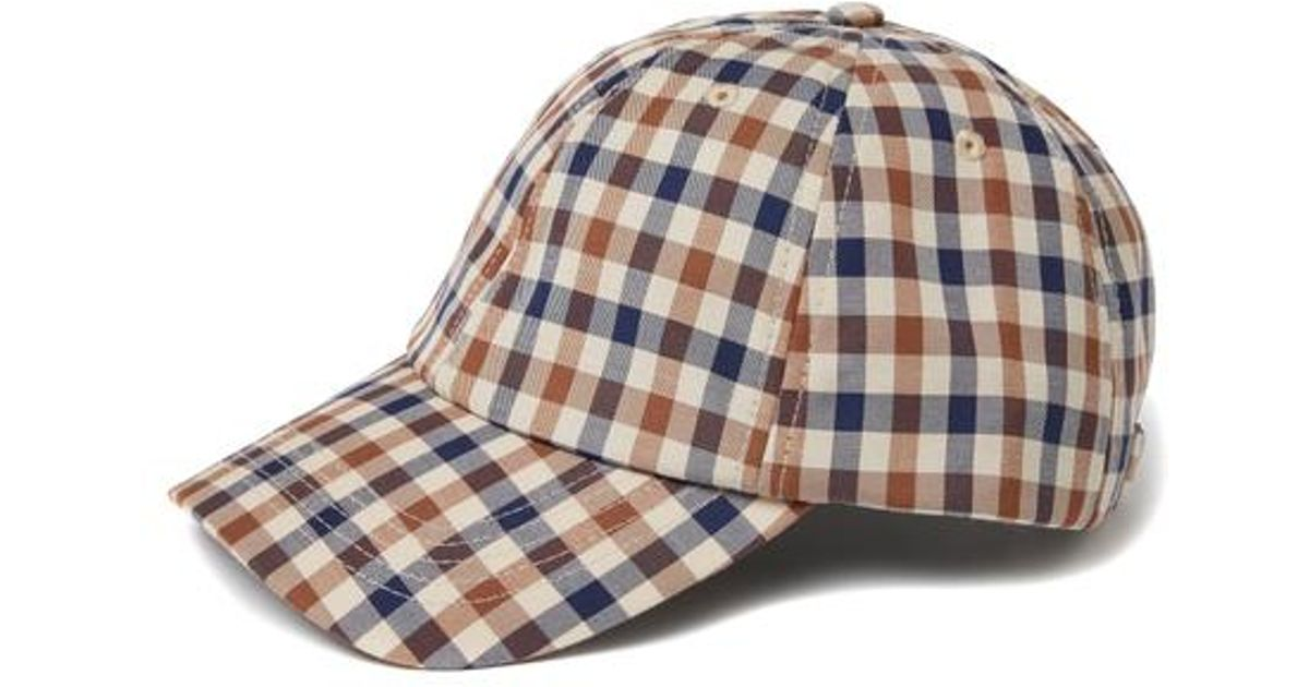 bcc59a12e73 Aquascutum Abbott Club Check Cap for Men - Lyst