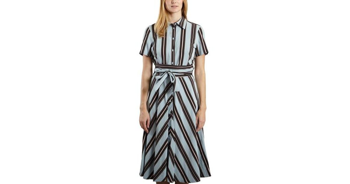 28a006a644 Tara Jarmon Striped Dress in Blue - Lyst