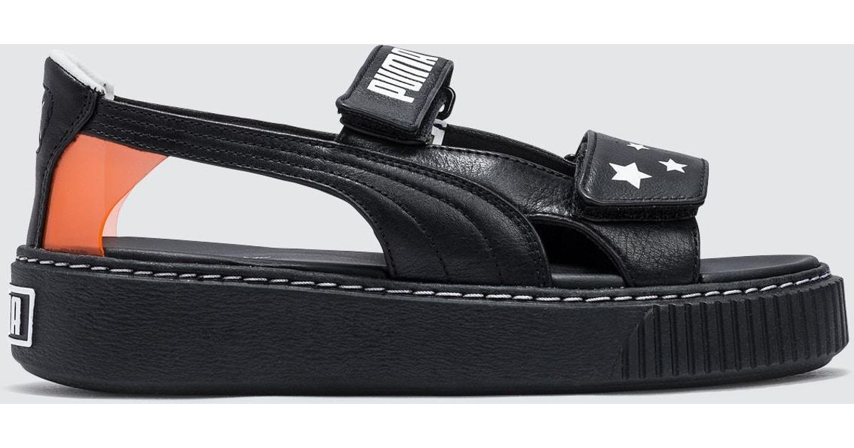 db2fd45bd69 PUMA - Black Platform Sandal Wns Sw - Lyst