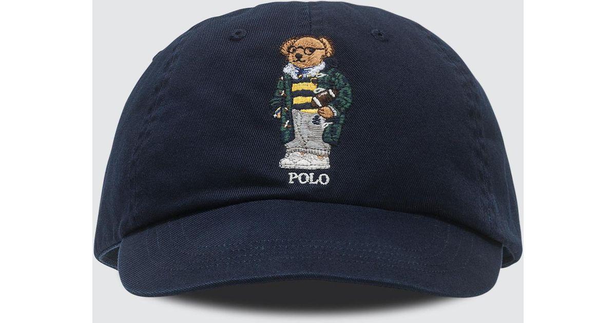 02e8a0d343b Polo Ralph Lauren Classic Sport Cap With Bear in Blue for Men - Lyst