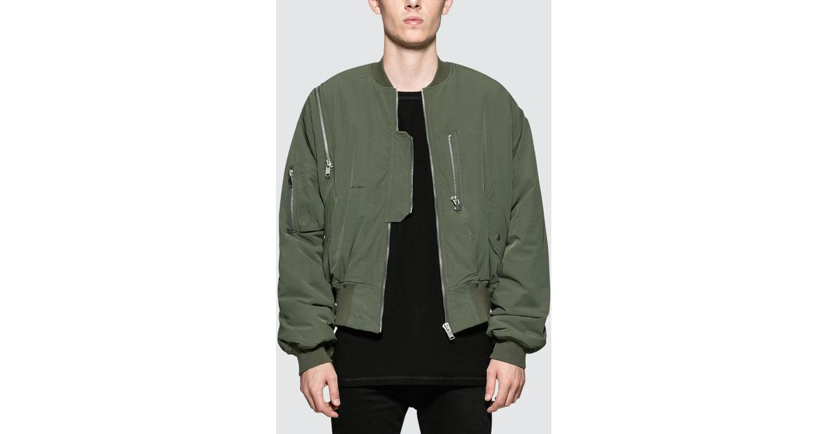 6cd339d48 HELIOT EMIL Green Shoulder Zip Bomber for men