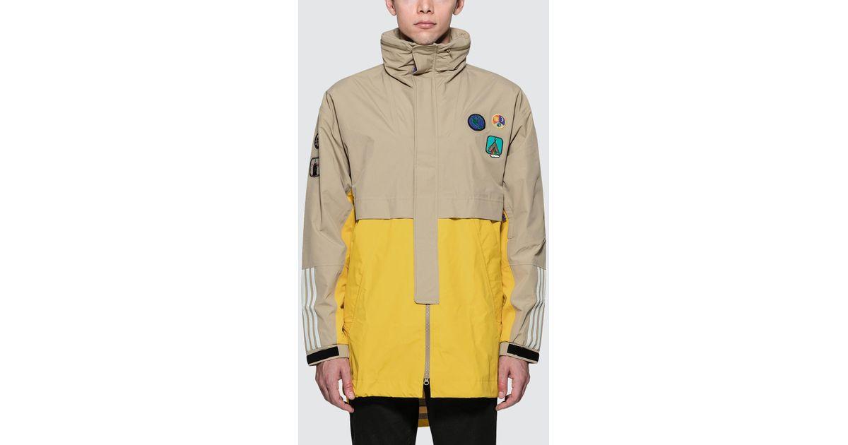 a95d7cdf39 Lyst - adidas Originals X Pharrell Hu 3l Jacket in Yellow for Men