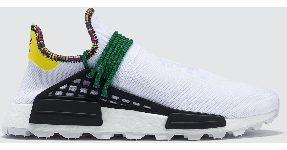 Adidas Adidas Pharrell Williams Solar HU NMD Core White from Stadium Goods | more