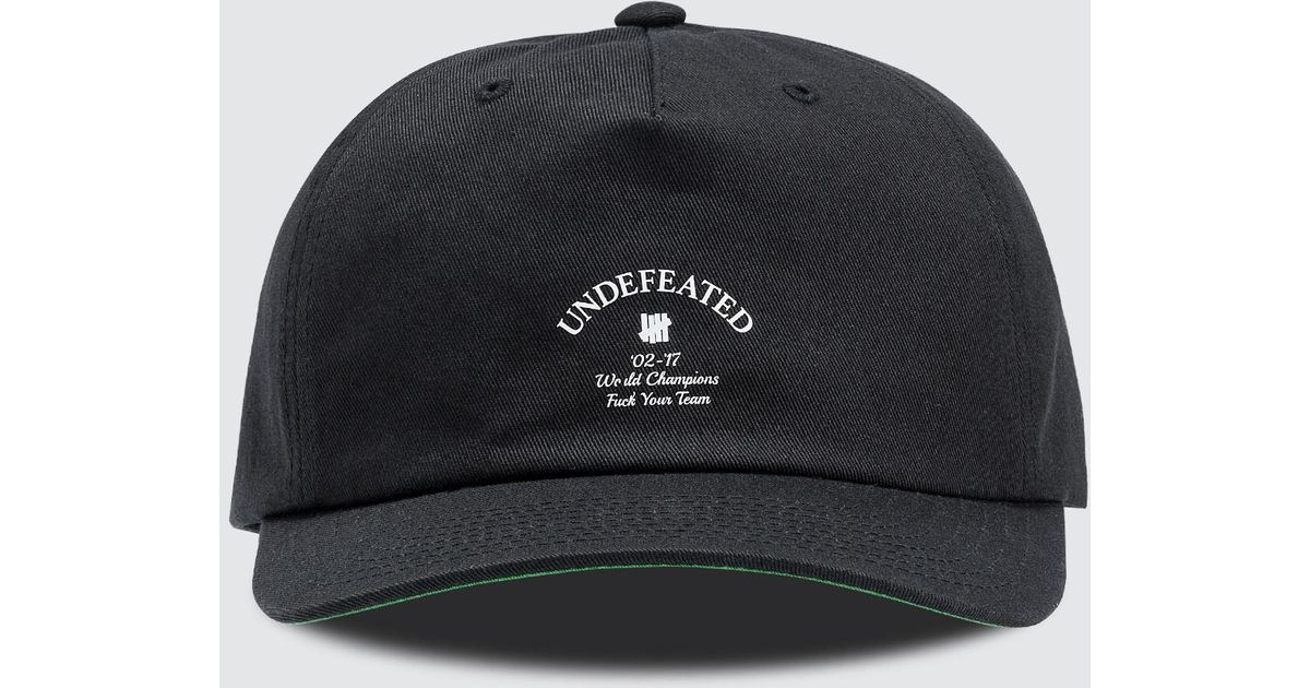Lyst - Undefeated Champions Strapback Cap in Black for Men 440f95d8c09