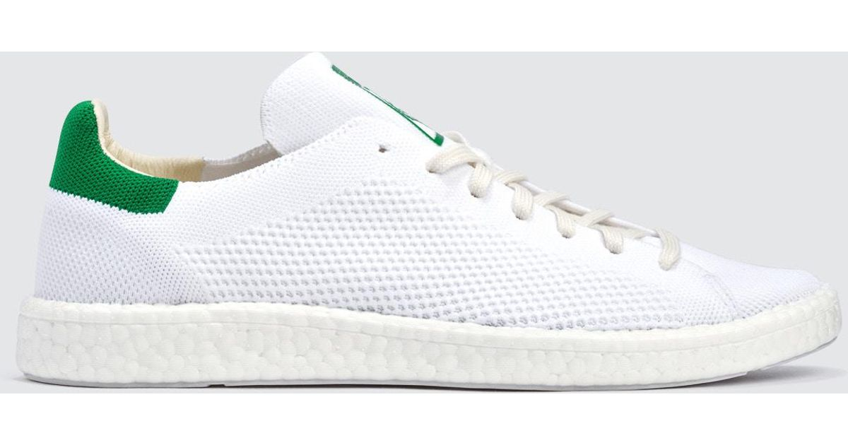 low priced bb4e8 02a30 Adidas Originals White Stan Smith Boost Primeknit for men