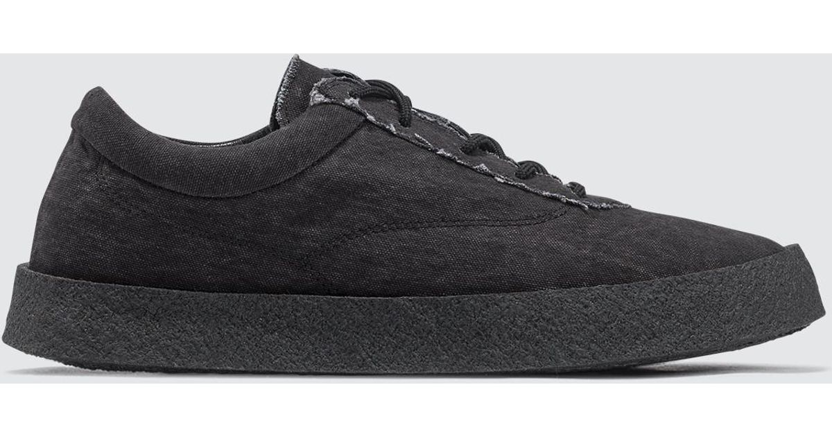 44f2bdcdf2f Lyst - Yeezy Women s Crepe Sneaker In Washed Canvas in Black