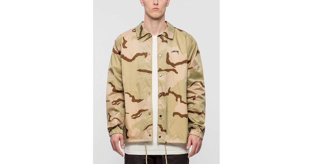 e5a9765d394a Stussy Spring Coach Jacket in Natural for Men - Lyst