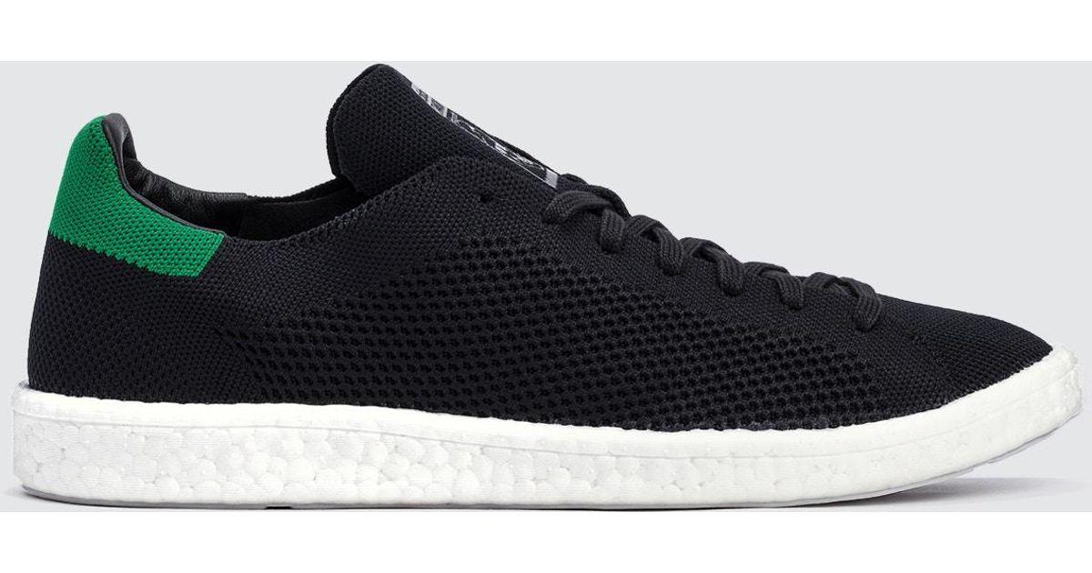 the latest 28897 b9b3a Adidas Originals Black Stan Smith Boost Primeknit for men