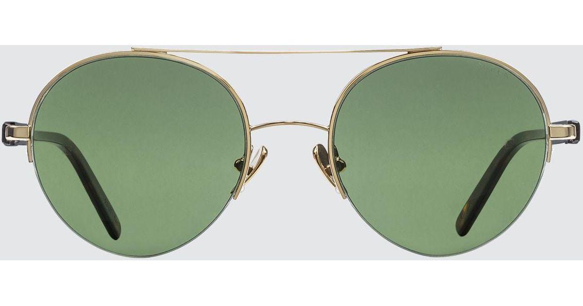 045870f6055 Lyst - Retrosuperfuture Cooper 3627 Green Sunglasses in Green for Men