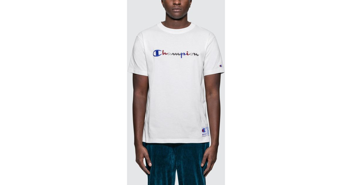 c48fee68 Lyst - Champion Tri-color Script Embroidery S/s T-shirt in White for Men