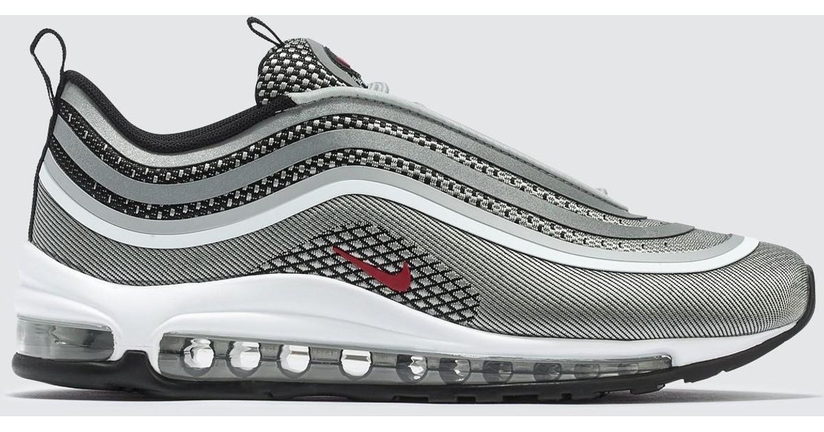 Nike Air Max 97 UL 17 Metallic Silver, Red & Black | END.