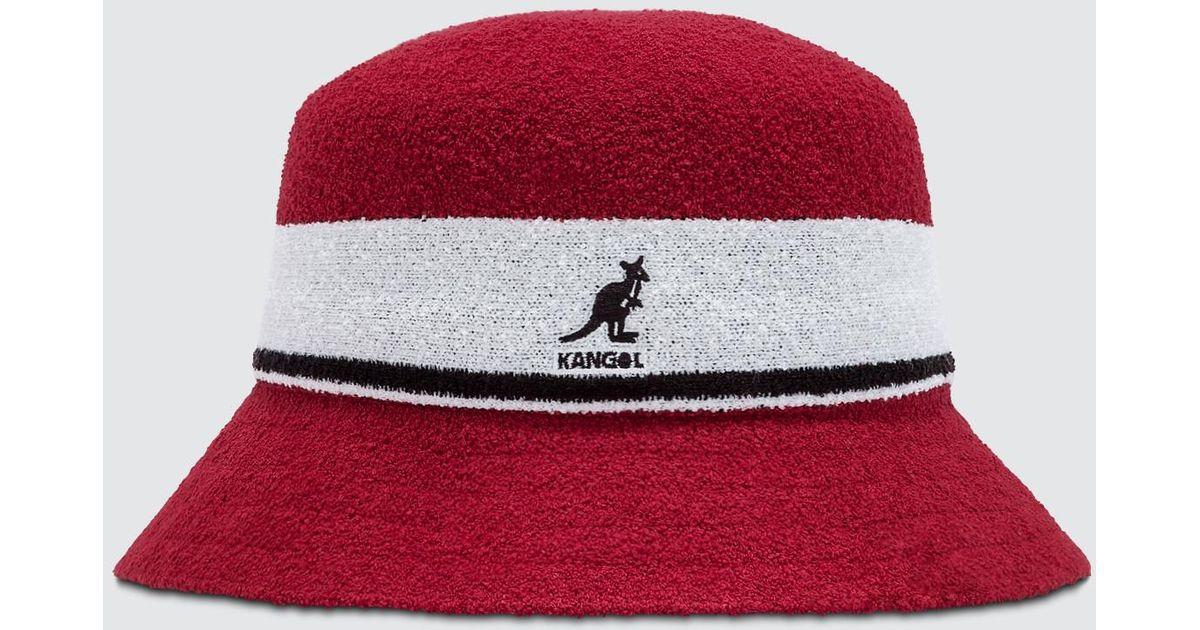 05f7404889364 Lyst - Kangol Bermuda Stripe Bucket in Red