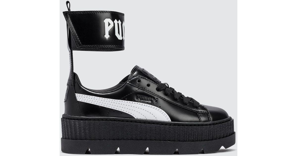 low priced 84f44 d041d PUMA Black Fenty By Rihanna Ankle Strap Sneaker