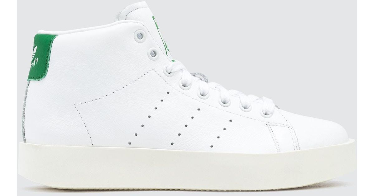5dd233a17ce0 Lyst - adidas Originals Stan Smith Bold Mid W in White