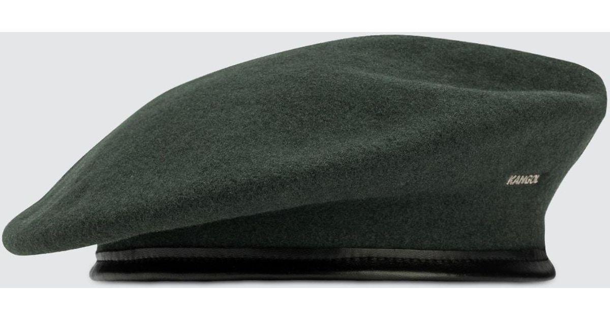 7ed1494a959fa Kangol Monty Beret in Green for Men - Lyst