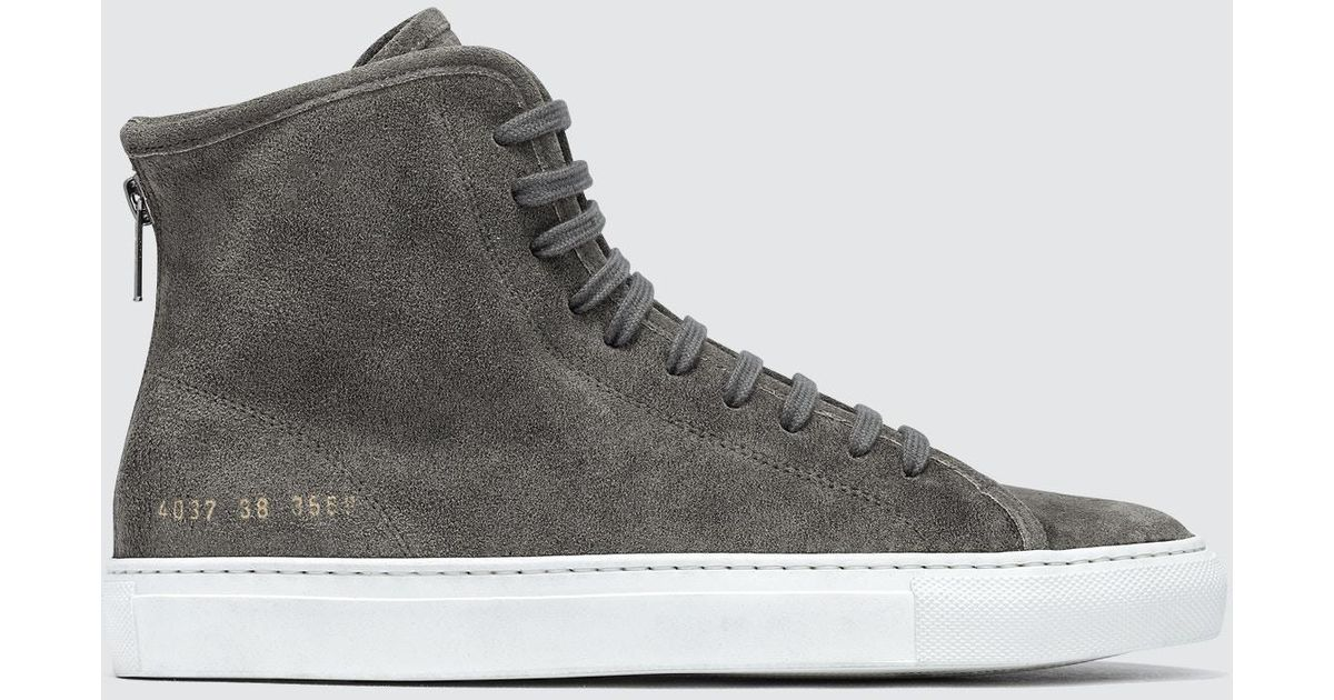 f22666839de4 Lyst - Common Projects Tournament High Waxed Suede in Gray