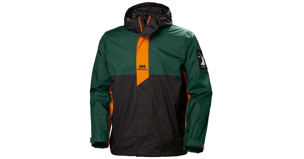 Helly Hansen Yu Rain Jacket Green For Men Lyst