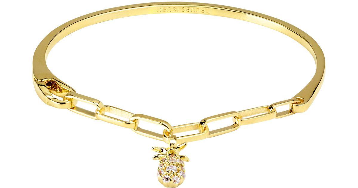 Henri Bendel Pineapple Cuff Chain Bracelet AC3tq