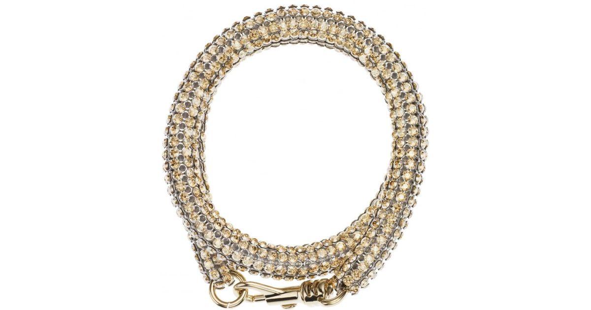 Atelier Swarovski Metallic Slim Double Bolster Bracelet Gold