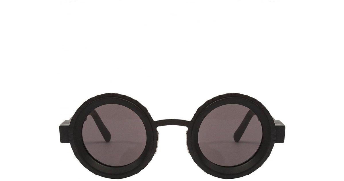 Lyst - Kuboraum Circle Frame Sunglasses Matte Black in Black