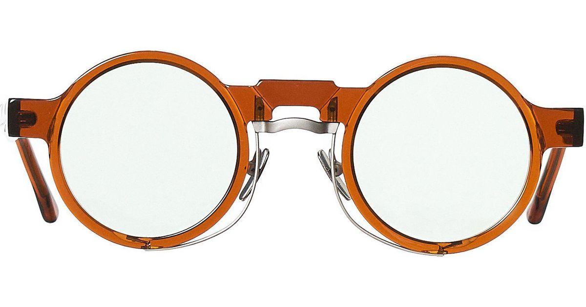 a4147e124e9 Lyst - Kuboraum Round Frame Acetate Glasses in Brown for Men